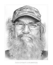 Si Robertson Duck Dynasty Drawing