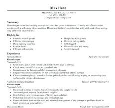 Sample Housekeeping Resume Job Description 7 Free Resumes To Get You Started 4