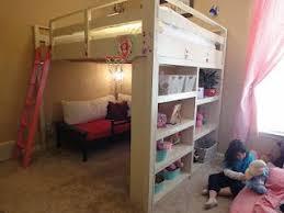loft bed with playarea on top Queen Loft Bed