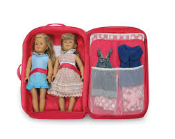 Badger Basket Doll Bed by Double Doll Travel Case With Bed And Bedding Ojcommerce