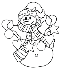 Winter Coloring Pages Snowman Frosty The To Print Photo Photos Full Size