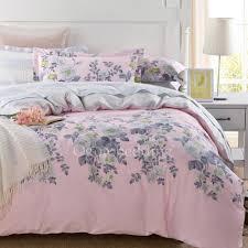 Elegant Floral Cotton Pink forter Sets Queen Size OGB