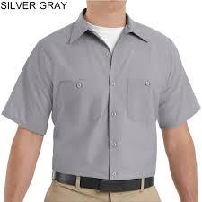 red kap sp24 men u0027s industrial work shirt short sleeve