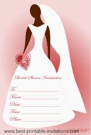 Blank Bridal Shower Invitations Templates Invitation Cards Template