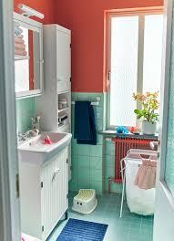 silverån 高櫃附鏡門 jäll 附架洗衣袋 充滿個人風格的小浴室 1