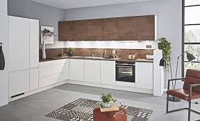 grifflos weiß rost l küche