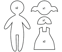 Paper Doll Cutouts Holding Hands Template Printable For Kids Cutting Dolls Felt Coloring