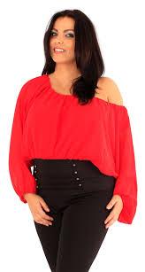 new ladies plus size corset hem long sleeve chiffon blouse gypsy