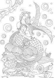 Free Beautiful Mermaid Adult Coloring Book Image From LiltKids