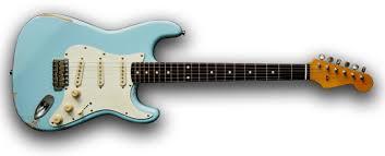 SRV Guitar Daphne Blue