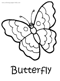 Butterfly Color Page Animal Coloring Pages Plate Sheetprintable Picture