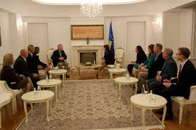 bureau president president jahjaga received general frank grass chief of the us