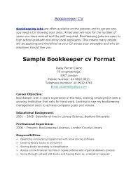 Resume For Bookkeeper Cover Letter Lovely Job With Quickbooks Experience