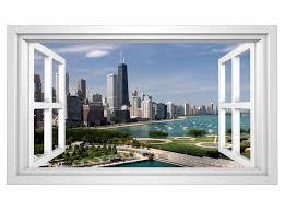 3d wandmotiv chicago fenster usa skyline bildfoto wandbild wandsticker wandtattoo wohnzimmer wand aufkleber 11e316 wandtattoos und leinwandbilder