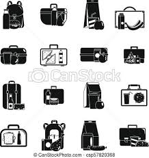 Lunchbox Food Icons Set Simple Style