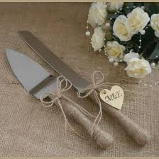 Wedding Cake Server Set And Knife Rustic Serving Outdoor Decoration
