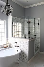 bathroom ideas white subway tiles with black grout tile gray