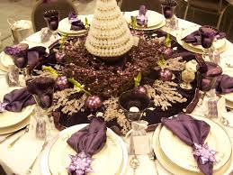 Dining Table Centerpiece Ideas For Christmas by Silver And Purple Christmas Table Decorations Rainforest Islands