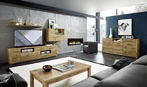 wohnzimmer komplettset 18458 wohnkombination set wohnwand eiche altholz