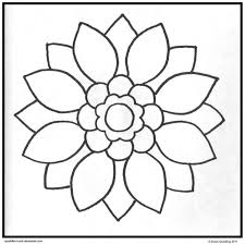 Simple Mandala Coloring Pages Printable DeviantART More Like Ariel Moonlight Page By