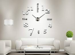 MEYA Home Decoration Big Clock Digital Mirror Wall Modern Designlarge Designer Clocks