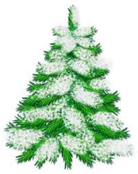 Green Snowy Png Trees Snowing Clipart Christmas Tree
