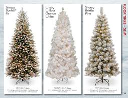 Snowy Dunhill Christmas Trees by National Tree Company Catalog