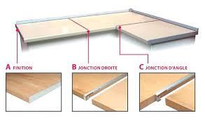 plan de travail d angle cuisine jonction plan de travail cuisine profil aluminium de jonction dangle