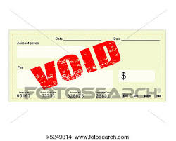 Clipart of Blank Check and Void stamp k Search Clip Art
