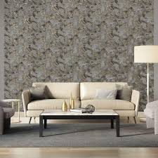 wallcoverings tapete marmor grau und gold