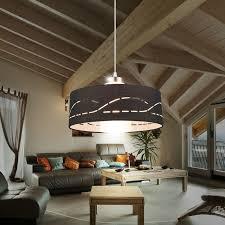 dekorative hänge le schwarz küche esszimmer beleuchtung deko schirm textil globo 15219