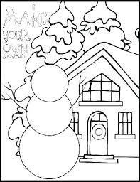 Winter Coloring Pages Printable Animals In Clothes Page Fun Free C