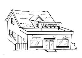 Coloring Page Restaurant