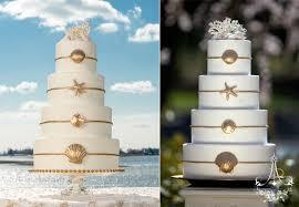 Beach Wedding Cake Sea Shells Summer CT