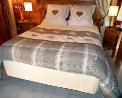 linge de lit style chalet drap housse cm cosy par tradilinge la