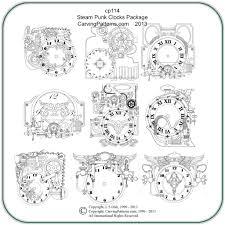 steampunk clocks patterns u2013 classic carving patterns
