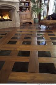 living room floor tile patterns 3 with wood and black tiles
