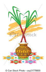 Happy Pongal Celebration With Sugarcane
