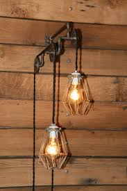 industrial pulley light wall sconce trolley wall light with