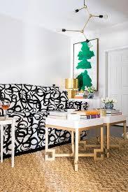 Black and White Sofa Contemporary Living Room