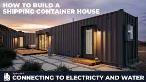 104 Building House Out Of Shipping Containers A Container Home Ep05 Connecting To Electricity And Water Youtube
