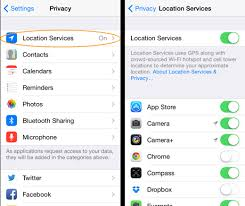 javascript How to open setting Privacy of iPhone in Cordova