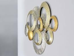 metall wand deko kreise 76cm gold und silber wanddeko
