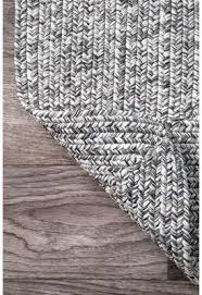 Jackson Gray Area Rug black white threadsGraySolid