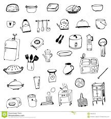 symbole cuisine vecteur de croquis de symbole d équipement de cuisine d isolement