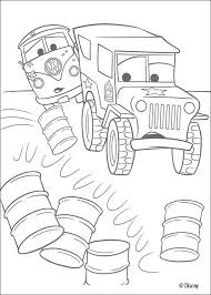 VW Bus And Military Jeep Coloring Page