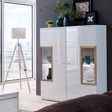 wohnzimmer highboard ciabeta in weiß und eiche 120 cm breit