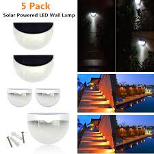 5pack solar powered outdoor led wall light light sensitive