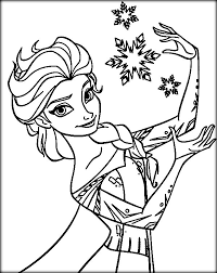 Disney Frozen Coloring Pages Elsa Let It Go