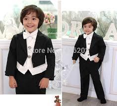 Hot Sale 2014 Fashion Design Customized Tuxedo Party Little Boy Wedding Suit 5 Pieces M 0117 Formal